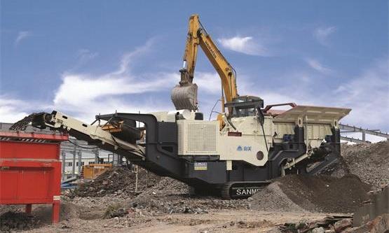 履带移动式建筑破碎制砂机